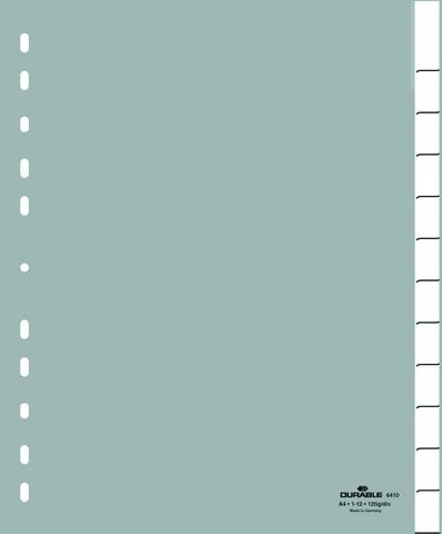 Register, blanko/0-12/Jan-Dez, A4+, ü, grau