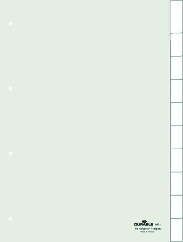 Register, blanko/0-10, 4f.Loch., A4, 10Bl., tr