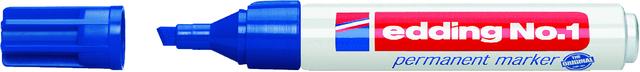 Permanentmarker No. 1, Keilspitze, 1-5mm, Schreibf.: blau