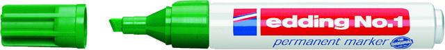 Permanentmarker No. 1, Keilspitze, 1-5mm, Schreibf.: grün