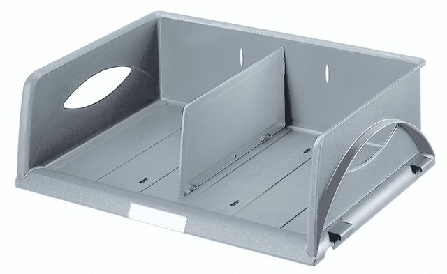 Briefkorb Sorty, PS, C4q, 405x300x125mm, grau