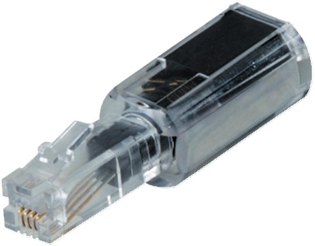 Kabelentwirrer, für Telefonhörer, schwarz, transparent