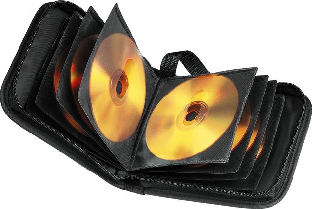 CD-Tasche, Ny, 164x170x61mm, für: 40CDs, sw