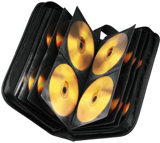 CD-Tasche, Ny, 295x166x75mm, für: 80CDs, sw