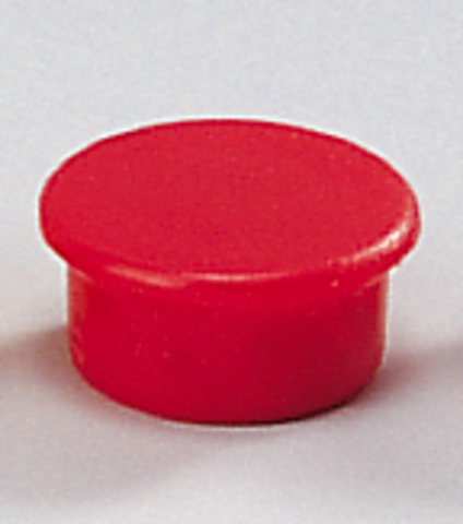 Magnet, rund, Ø: 13 mm, Haftkraft: 100 g, rot