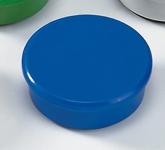 Magnet, rund, Ø: 38 mm, Haftkraft: 2.500 g, blau