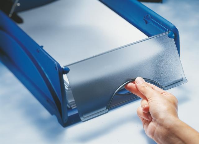 Briefkorb Sorty A4, Kst., A4, 285x385x125mm, blau