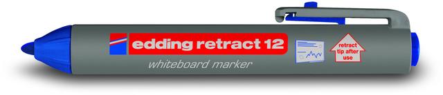 Boardmarker retract 12, Rundspitze, 1,5 - 3 mm, Schreibf.: blau
