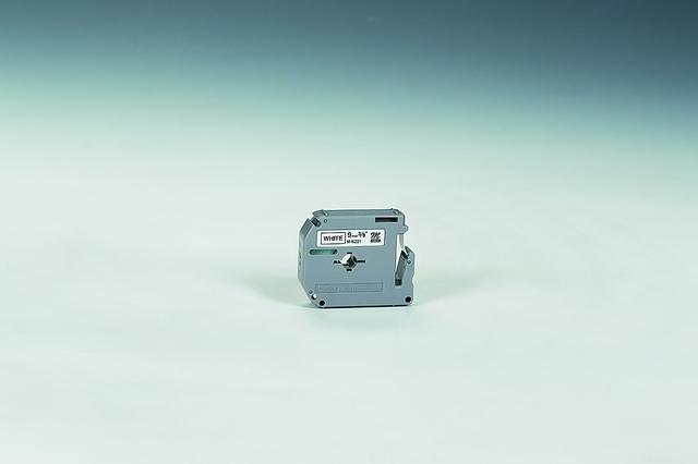 Schriftbandkassette M, unlam., 9mmx8m, schwarz auf weiß