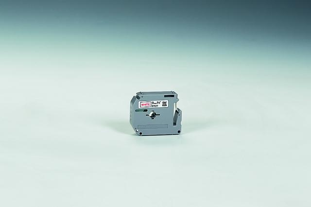 Schriftbandkassette M, unlam., 9mmx8m, rot auf weiß