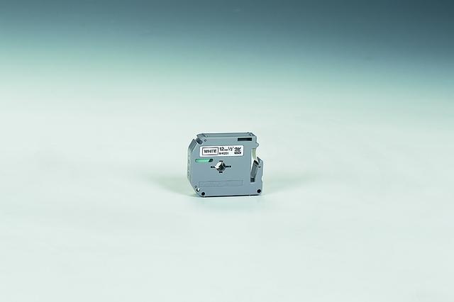 Schriftbandkassette M, unlam., 12mmx8m, schwarz auf weiß