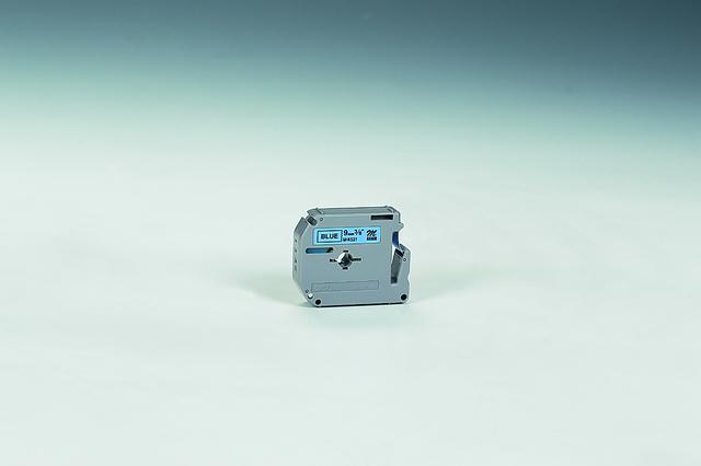 Schriftbandkassette M, unlam., 9mmx8m, schwarz auf blau