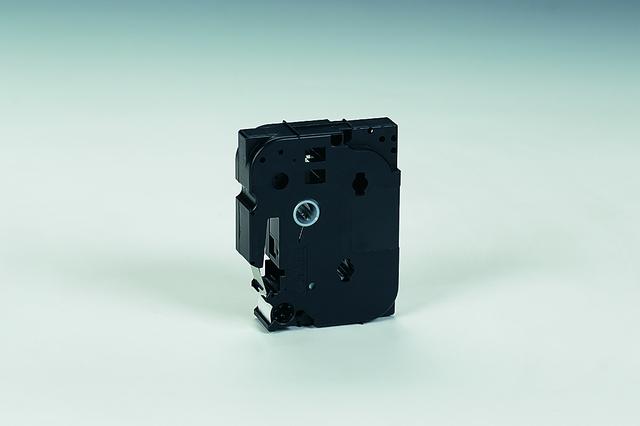 Schriftbandkassette, TZe, permanent, 18mmx8m, schwarz auf weiß