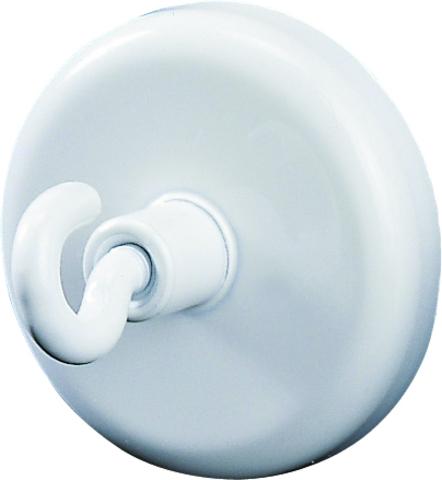Magnet, mit Haken, rund, Ø: 36mm, Haftkraft: 8.000g, weiß