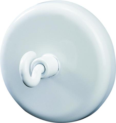 Magnet, mit Haken, rund, Ø: 47mm, Haftkraft: 15.000g, weiß
