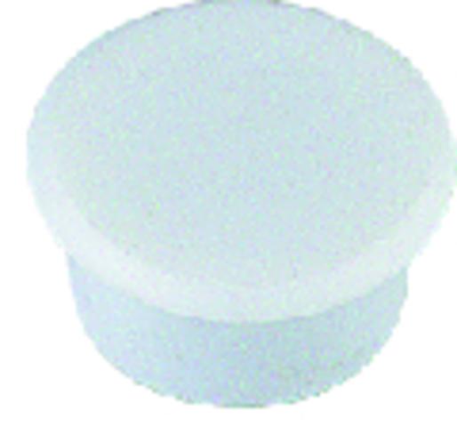 Magnet, rund, Ø: 24 mm, 7 mm, Haftkraft: 300 g, weiß