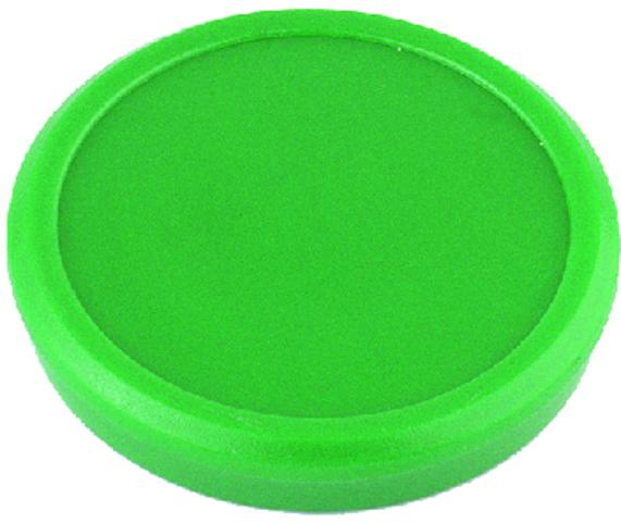 Magnet, rund, Ø: 13 mm, 7 mm, Haftkraft: 100 g, grün
