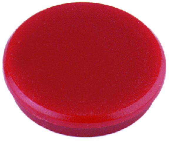 Magnet, rund, Ø: 24 mm, 7 mm, Haftkraft: 300 g, rot