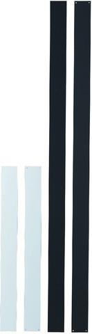 Wandleiste, selbstklebend, 50 mm x 50 cm, weiß, ohne Magnete