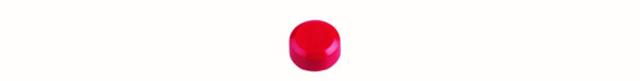 Magnet, rund, Ø: 15 mm, 7 mm, Haftkraft: 170 g, rot