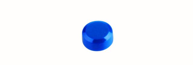 Magnet, rund, Ø: 15 mm, 7 mm, Haftkraft: 170 g, blau