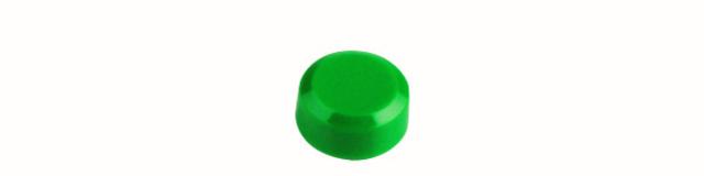 Magnet, rund, Ø: 15 mm, 7 mm, Haftkraft: 170 g, grün