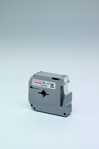 Schriftbandkassette M, unlam., 12mmx8m, rot auf weiß