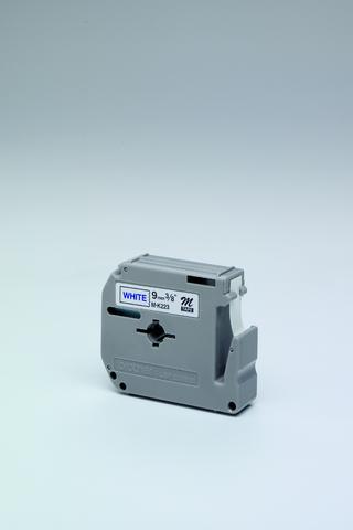 Schriftbandkassette M, unlam., 9mmx8m, blau auf weiß