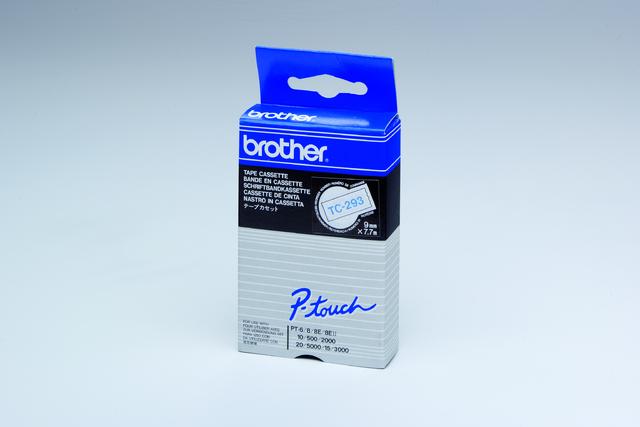 Schriftbandkassette TC, 9mmx7,7m, blau auf weiß
