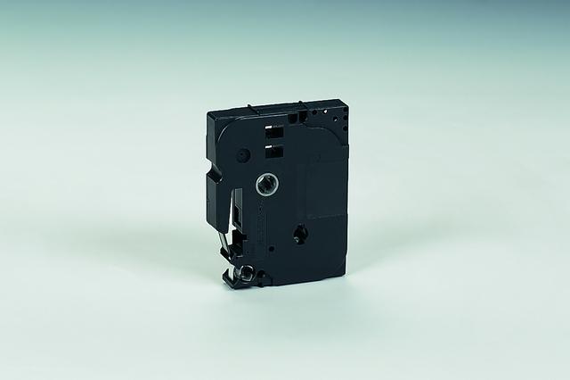 Schriftbandkassette TZe, laminiert, 6 mm x 8 m, schwarz auf farblos