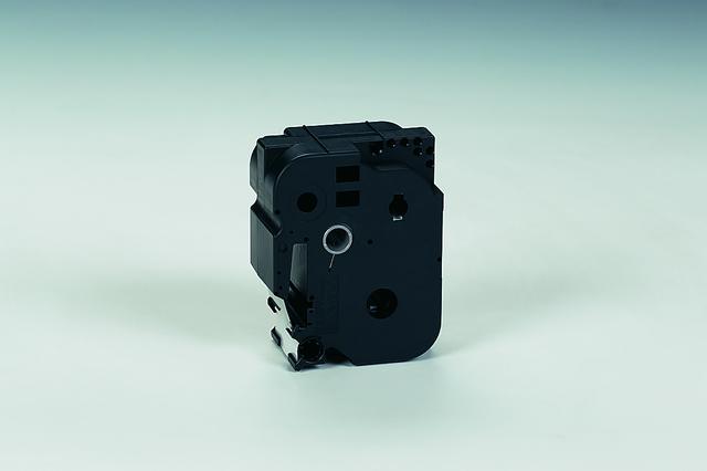 Schriftbandkassette, TZe, PES, lam., 36mmx8m, schwarz auf farblos
