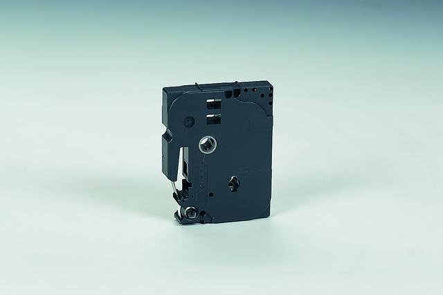 Schriftbandkassette TZe, PES, laminiert, 6 mm x 8 m, schwarz auf weiß