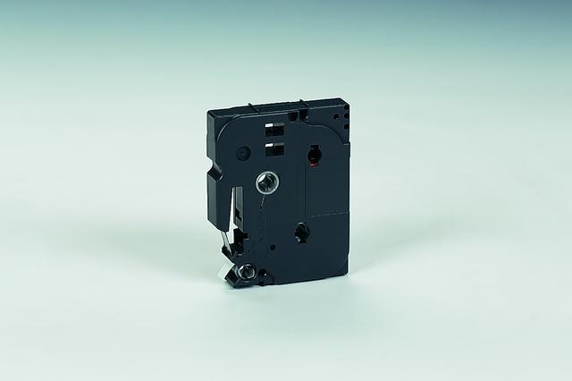 Schriftbandkassette, TZe, laminiert, 9mmx8m, schwarz auf weiß