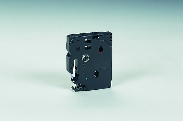 Schriftbandkassette TZe, PES, laminiert, 12 mm x 8 m, blau auf weiß