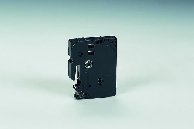 Schriftbandkassette TZe, PES, laminiert, 6 mm x 8 m, weiß auf schwarz