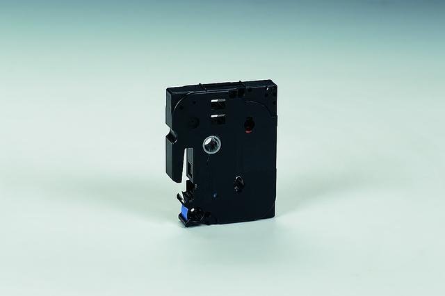 Schriftbandkassette TZe, PES, laminiert, 12 mm x 8 m, weiß auf blau