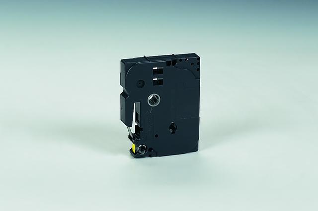 Schriftbandkassette TZe, PES, laminiert, 6 mm x 8 m, schwarz auf gelb