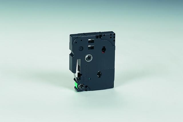 Schriftbandkassette TZe, PES, laminiert, 12 mm x 8 m, schwarz auf grün