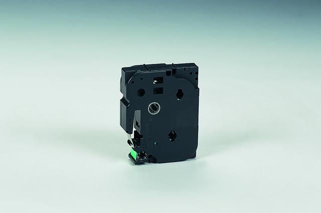 Schriftbandkassette, TZe, laminiert, 18mmx8m, schwarz auf grün