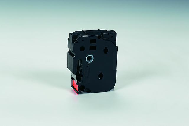 Schriftbandkassette, TZe, laminiert, 24mmx5m, schwarz auf signalorange
