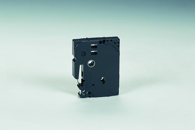 Schriftbandkassette, TZe, laminiert, 6 mm x 8 m, schwarz auf weiß