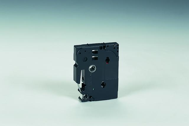 Schriftbandkassette TZe, 12 mm x 8 m, schwarz auf farblos matt