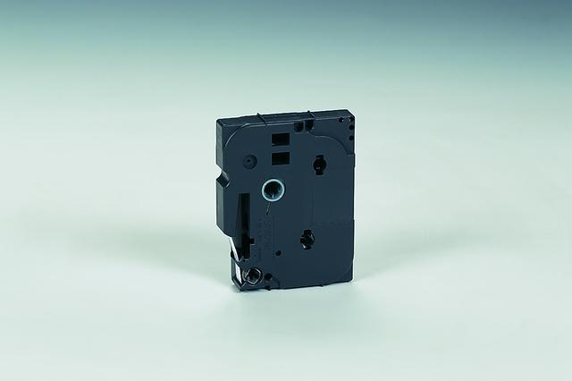 Schriftbandkassette TZe, PES, laminiert, 9 mm x 8 m, schwarz auf weiß