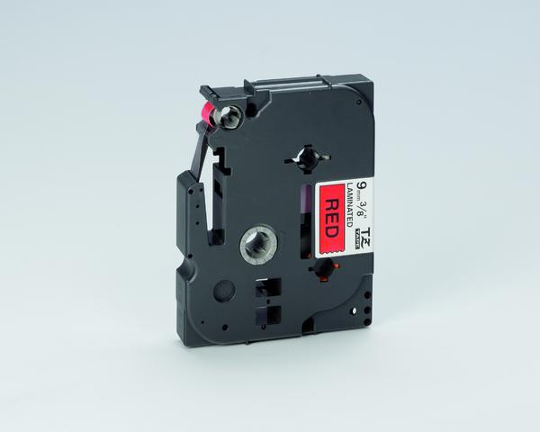 Schriftbandkassette TZe, PES, laminiert, 9 mm x 8 m, schwarz auf rot
