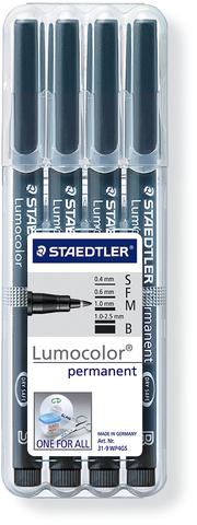 OH-Stift, Lumocolor®, S / F / M / B, perm., Schreibf.: schwarz