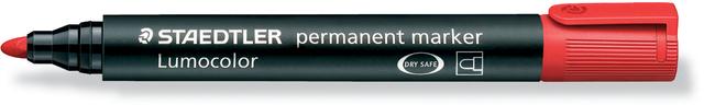Permanentmarker Lumocolor® 352, Rundspitze, 2 mm, Schreibf.: rot