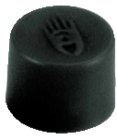 Magnet, rund, Ø: 10 mm, Haftkraft: 150 g, schwarz