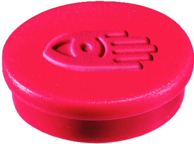 Magnet, rund, Ø: 20 mm, Haftkraft: 250 g, rot