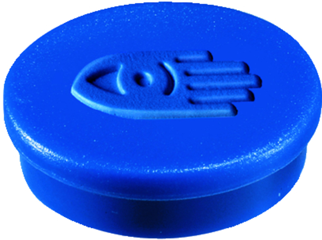 Magnet, rund, Ø: 20 mm, Haftkraft: 250 g, blau