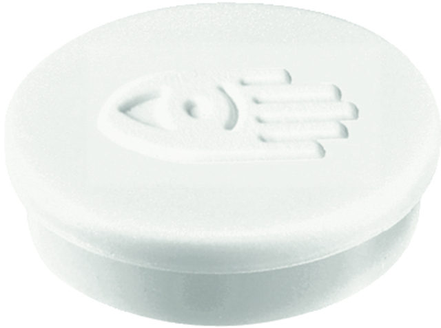 Magnet, rund, Ø: 20 mm, Haftkraft: 250 g, weiß